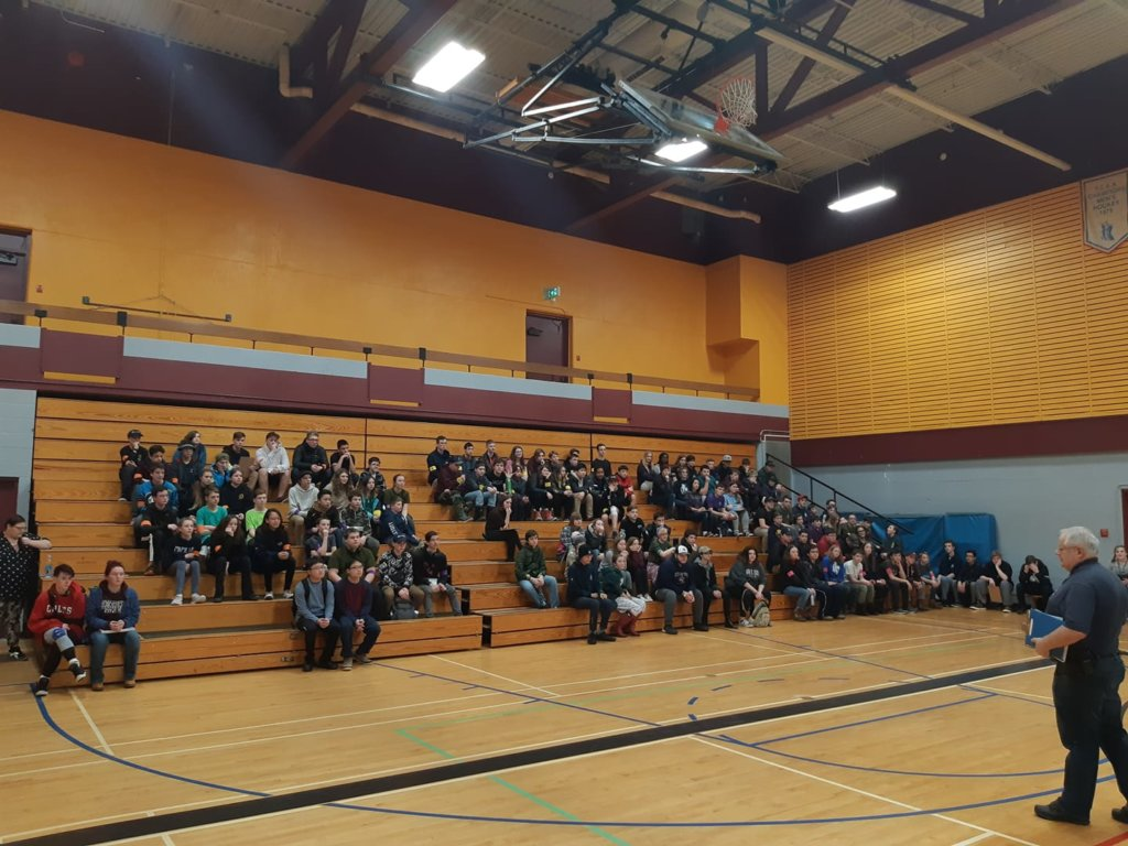 Cadets from around the Kootenay's took part in the 2020 East Meets West Sports Weekend at Selkirk College.  Photo credit: Major Kevin DeBiasio